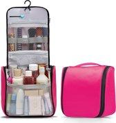 TravelMore Reis Toilettas Hangend met Haak - Travel Etui Organizer voor Toiletartikelen Kamperen & Reizen - Toilet Bag voor Vrouwen – Roze