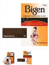 Bigen permanent powder hair colour  dark brown 57