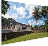 Foto van de muur van de Tempel van de Tand in het Aziatische Sri Lanka Plexiglas 90x60 cm - Foto print op Glas (Plexiglas wanddecoratie)