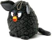 Furby pluche knuffel - grijs/zwart - 14cm