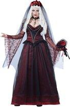 Donkere bruid kostuum voor vrouwen - Verkleedkleding - maat L