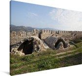 Uitzicht op Efeze in Turkije Canvas 60x40 cm - Foto print op Canvas schilderij (Wanddecoratie woonkamer / slaapkamer)