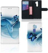 Xiaomi Note 8 Pro Telefoonhoesje met Pasjes Vlinders