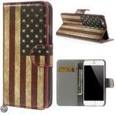 Usa Vlag Wallet case hoesje iPhone 6 4,7