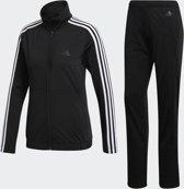 adidas Back2Basics 3Stripes Tracksuit Trainingspak Dames - Black/White/Black