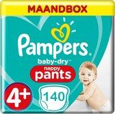 Pampers Baby Dry Pants Maat 4+ - 140 Luierbroekjes Maandbox
