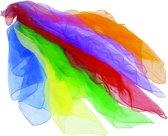 JONGLEERSJAAL S E T van 6 stuks L68xB68cm, 6 kleuren gemeng