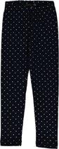 Losan meisjeskleding - donkerblauwe legging met hartjes- Maat 98