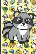 Raccoon Animal Party Notebook