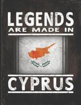 Legends Are Made In Cyprus: Customized Gift for Cypriot Coworker Undated Planner Daily Weekly Monthly Calendar Organizer Journal