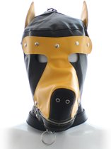 Banoch - Perra marrón - honden masker bruin - puppy play