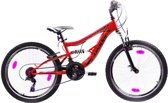 Leader No Limit - Fiets - Jongens - Rood - 24 Inch