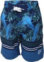 Color Kids Kids Engolf Beach Shorts  Zwembroek - Maat 128  - Unisex - blauw/groen/wit
