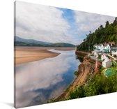 Portmeirion bij Gwynedd Verenigd Koninkrijk Canvas 180x120 cm - Foto print op Canvas schilderij (Wanddecoratie woonkamer / slaapkamer) XXL / Groot formaat!