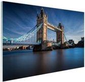 Tower bridge Thames Glas 120x80 cm - Foto print op Glas (Plexiglas wanddecoratie)