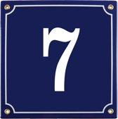 Emaille huisnummer blauw nr. 7