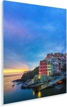 Schemering in Cinque Terre Plexiglas 20x30 cm - klein - Foto print op Glas (Plexiglas wanddecoratie)