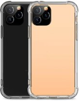 Teleplus iPhone 11 Case Impact Resistant Hard Silicone Transparent + Nano Screen Protector hoesje