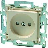 NIKO Original Cream inbouw stopcontact - enkelvoudig - 10 STUKS IN PROMO PACK
