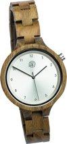 Greenwatch Dames houten horloge Diamond Groen