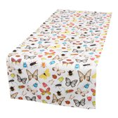 by Sorcia - tafelloper Insects & Butterflies - 50x140cm - katoen - designed in Holland