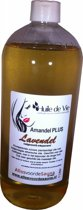 Amandelolie PLUS Lavendel 1000ml. Massageolie 100% zuiver