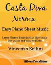 Casta Diva Easy Piano Sheet Music