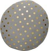 Bloomingville vloerkussen, inc. vulling, 70 cm x 10 cm, grijs/goud