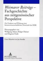 weimarer Beitraege - Fachgeschichte Aus Zeitgenoessischer Perspektive