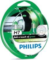 Philips ColorVision H7 autolamp Groen 55W 12V, (set 2 stuks)