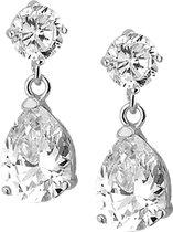The Jewelry Collection - Oorhangers - Zilver met zirkonia