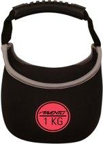 Avento Kettle Bell Neopreen - 1 Kg - Zwart/Roze