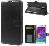 Cyclone wallet hoesje Samsung Galaxy Note 4 zwart