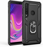 Teleplus Samsung Galaxy A9 2018 Vega Ringed Tank Cover Case Black + Nano Screen Protector hoesje