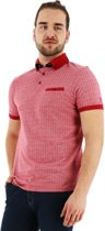 Chris Cayne regular fit poloshirt korte mouw rood., maat XXL