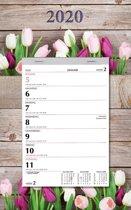 Week notitie (scheur)kalender 2020 - Tulp - 24 x 31 cm