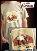 SIMPSONS - T-Shirt beige homme Like Father Like Son (S)