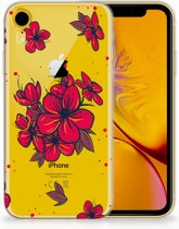 iPhone Xr TPU-siliconen Hoesje Design  Blossom Red