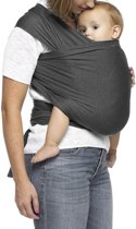Ergonomische Geweven Rekbare Baby Draagdoek Van Katoen Om Te Knopen - Grijs - Babywrap - Draagdoeken - Babydrager - Buikdrager – Rugdrager – Heupdrager - Baby sling – Baby Carrier – Draagzak - Baby Wrap Sling – Draagdoek Biologisch Katoen