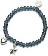 Proud MaMa Charm Armband Ster / Hart Marine