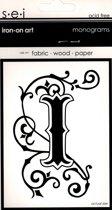 Strijksjabloon Monograms Letter I