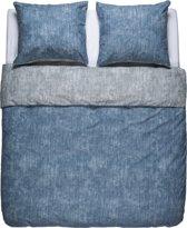 Flin Bedding - Dekbedovertrek - Polykatoen - Eenpersoons - 140x200/220 - Blauw/Grijs