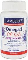 Lamberts Omega 3 Berry Bursts For Kids - 100 Kauwcapsules - Voedingssupplement