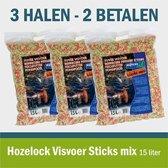 Hozelock Visvoer Sticks mix 15liter (2+1 gratis)