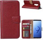 Xssive Hoesje voor Samsung Galaxy S9 Plus - Book Case - Bordeaux Rood