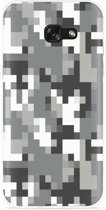Galaxy A3 (2017) Hoesje Pixel Camouflage Grey