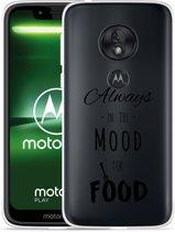 Moto G7 Play Hoesje Mood for Food Black