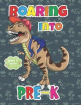 Roaring Into Pre-K Draw And Write Grades K-3: Dinosaur Primary Story Journal: Dotted Midline and Picture Space Practice Writing Letters Composition Pr