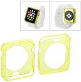 Apple Watch 42mm transparant TPU hoesje case frontje Geel