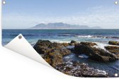 Rotsen op de kust van Robbeneiland in Zuid-Afrika Tuinposter 180x120 cm - Tuindoek / Buitencanvas / Schilderijen voor buiten (tuin decoratie) XXL / Groot formaat!